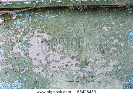 Aged Old Red White Gray Brick Wall Texture Destroyed Concrete Wall Horizontal Background. Shabby Urban Messy Brickwall Structure. White Red Stone Wall With Damaged Plaster Background Texture.