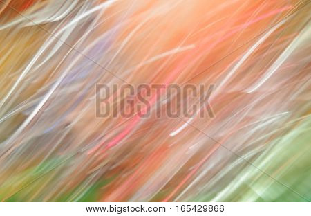 Bright defocused lights garlands, abstract colored background