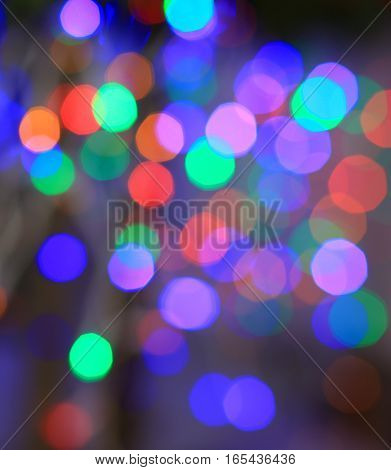 Color blurred circles. Blurred color background. Backdrop with circles in different colors. Soft focus bokeh.