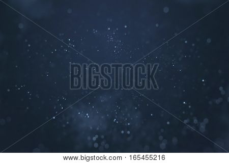 Abstract Gradient Blue Background With Bokeh And Particles Flowing, Events Festive Holiday Overlay R