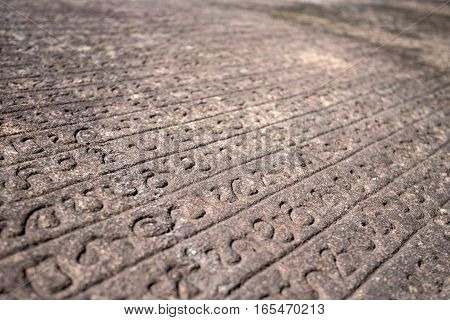 Ancient Sinhalese Scripts carved in stone book Gal Pota