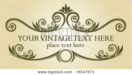 Vintage frame. Vector illustration.