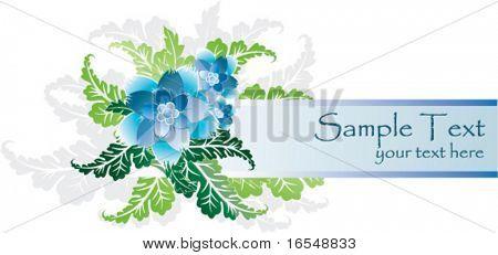 Floral border foe text