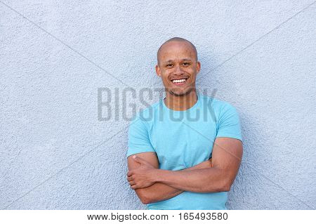 Cool African American Man Smiling With Arms Crossed