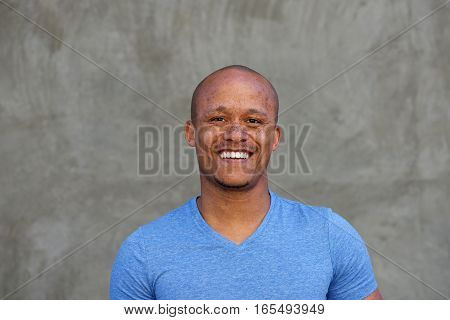 Close Up Mixed Race Man With Freckles Smiling