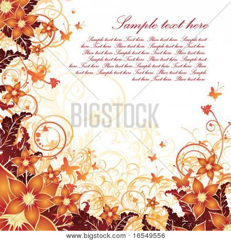 Autumn floral card