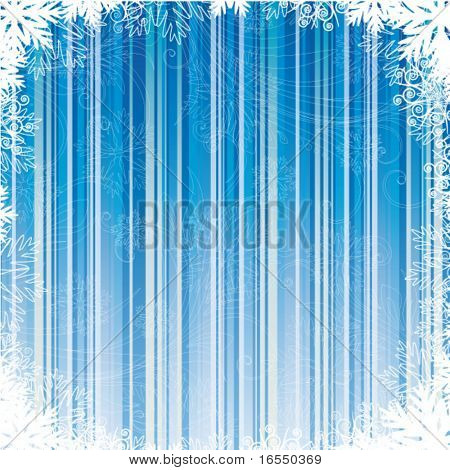 blue winter card