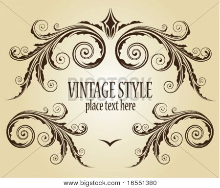 Vintage frame. Vector.