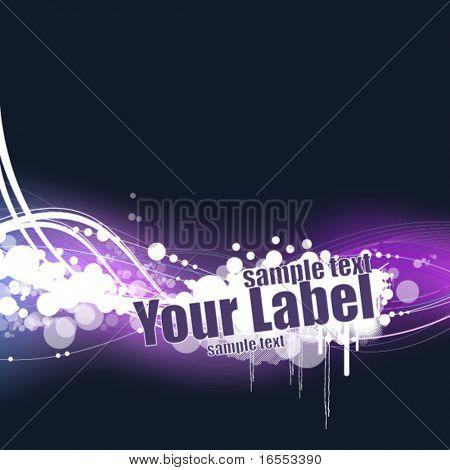 Neon design card