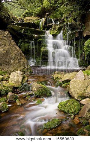 Waterfall on a mountain stream