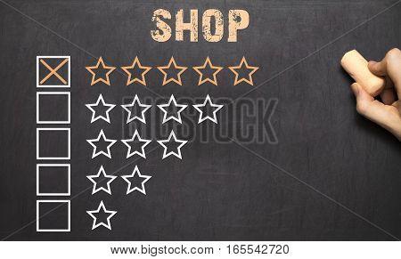 Best Shop Five Golden Stars.chalkboard