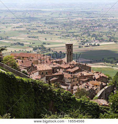 Ancient city of Cortona in Tuscany Italy
