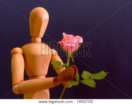 Manikin With Rose (Horizontal)