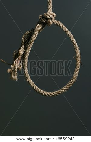 close up on hanging noose