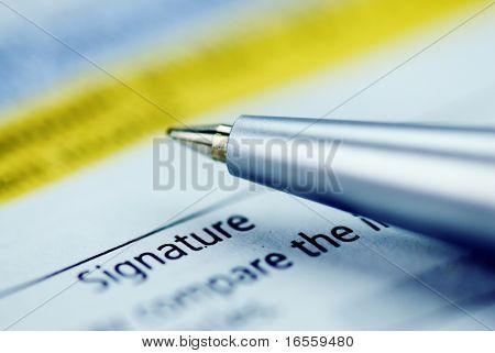 signature on tax form