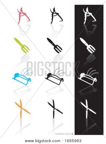 Garden Tools Icon Set 3 (Vector)