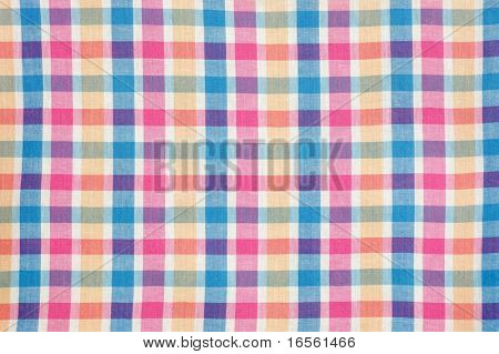 Colorful Checkered Picnic Cloth