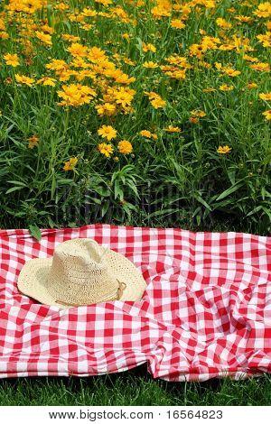 picnic en el Prado de las flores amarillas