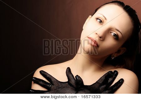 Beautiful woman portrait. Fashion art photo
