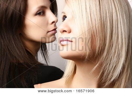 Girlfriends. A beautiful young women