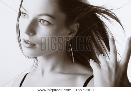 Portrait of beautiful young sexy woman