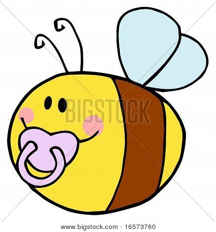 Flying Baby Bee Cartoon Character