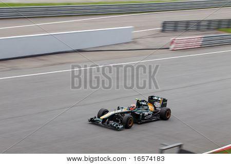 Jarno Trulli at a high speed straight