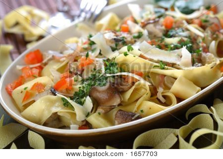 Cooked Vegetables With Pasta