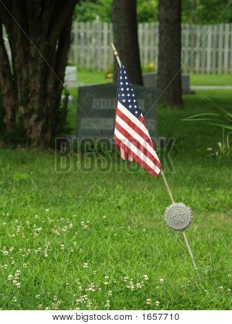 Military Veteran Grave Marker