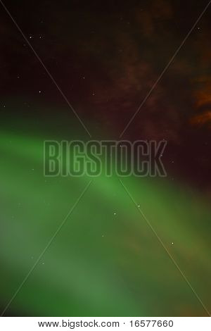 Close up of the northern lights (aurora borealis)