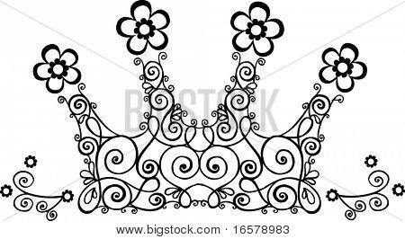 Vine Crown Vector Illustration