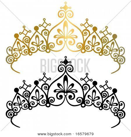 Princess Tiara Crown Vector Illustration