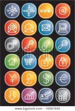 Ícones da Internet e negócios