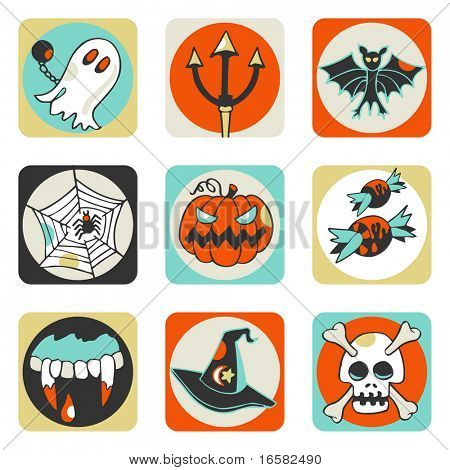 Halloween icons - illustrations - icons set -