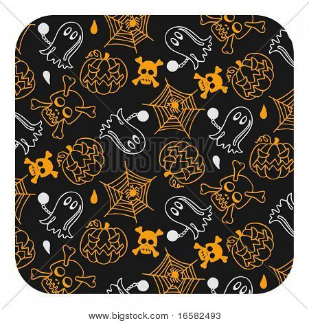 Halloween pattern- black - illustrations - -