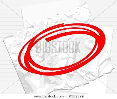 paper background with red circle - -