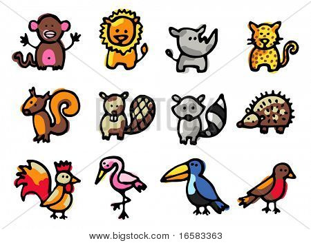 animals illustrations 2 - illustrations - icons set -