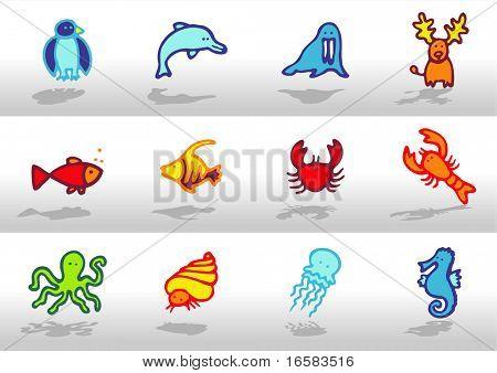 Animals icons 4 - illustrations - icons set -