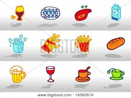 Food icons 3 - illustrations - icons set -