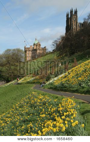 Edinburgh From The Princes Street Gardens