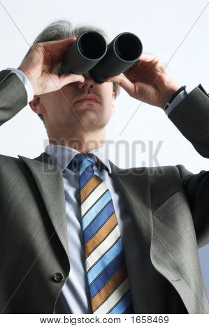 Far-Seeing Businessman