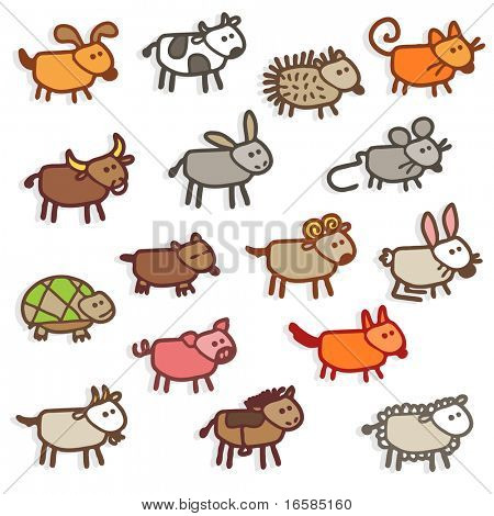 farm animals - colors