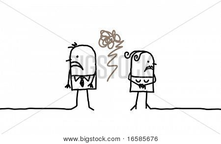 couple and anger