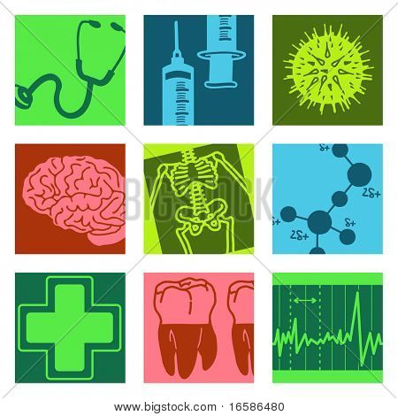 pop-art objects - science & medical