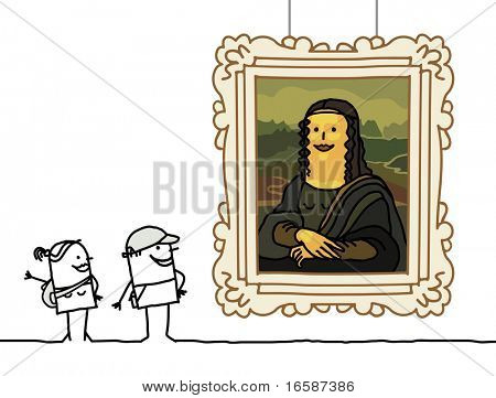 """Mona Lisa"" cartoon"
