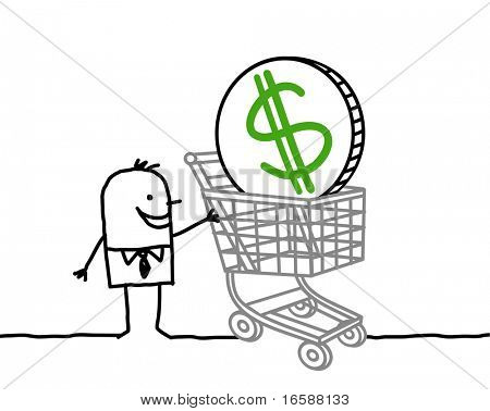 businessman & shopping cart