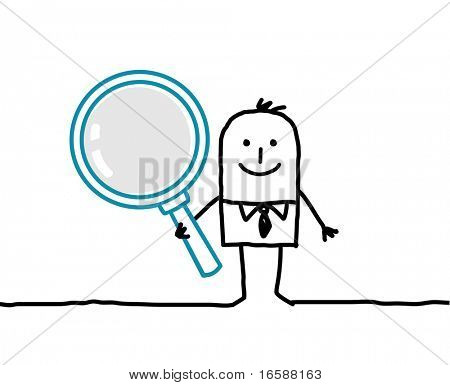 man & magnifying glass