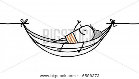 man in a hammock