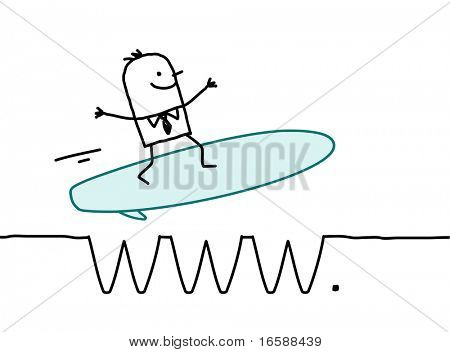 businessman surfing on the web