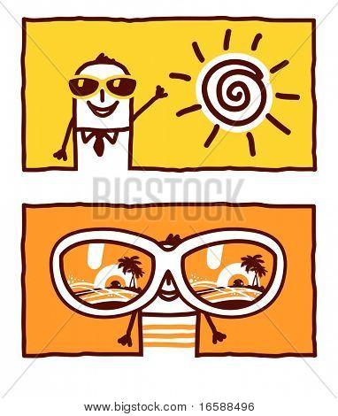 summer, holidays & sunglasses